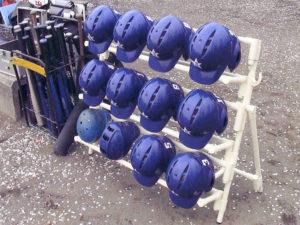野球ヘルメット掛けスタンド