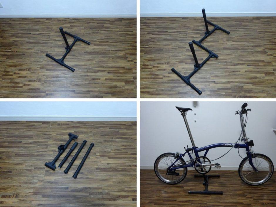 折りたたみ自転車ブロンプトン用展示スタンド その1