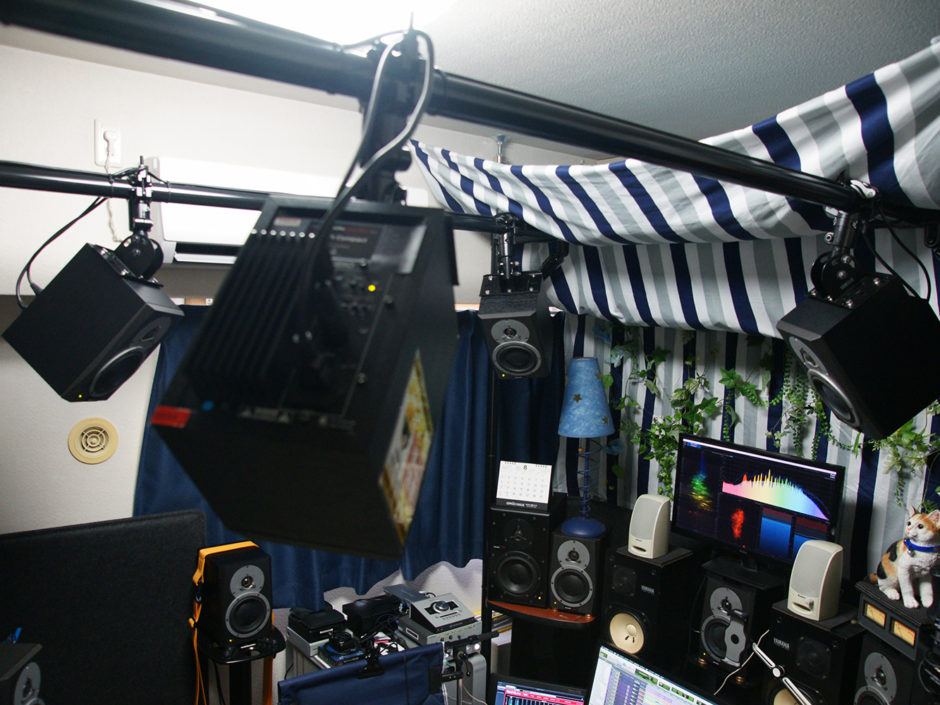 DOLBY ATMOSホームシアター天井スピーカー設置用バトンラック その1