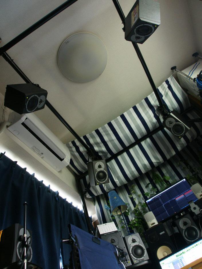 DOLBY ATMOSホームシアター天井スピーカー設置用バトンラック